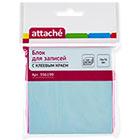 Стикеры Attache 76x76 мм пастельные голубые (1 блок, 100 листов)